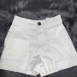 White denim H&M shorts size 0